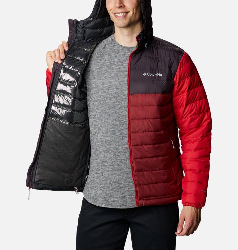 Powder Lite™ Hooded Jacket | 666 | XL Doudoune à capuche Powder Lite™ Homme, Red Jasper, Dark Purple, Mountain Red, a3
