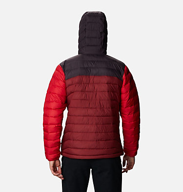 Doudoune à capuche Powder Lite™ Homme Powder Lite™ Hooded Jacket | 043 | XS, Red Jasper, Dark Purple, Mountain Red, back