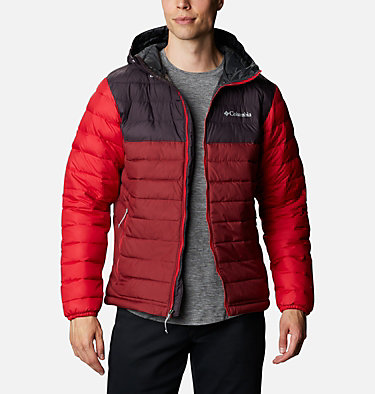 Doudoune à capuche Powder Lite™ Homme Powder Lite™ Hooded Jacket | 043 | XS, Red Jasper, Dark Purple, Mountain Red, front