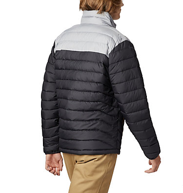 Men's Powder Lite™ Jacket Powder Lite™ Jacket | 664 | XL, Shark, Columbia Grey, back