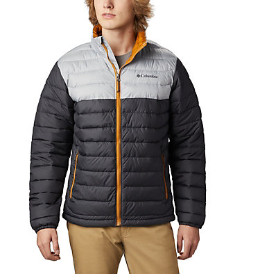 Men's Powder Lite™ Jacket Powder Lite™ Jacket | 664 | XL, Shark, Columbia Grey, front
