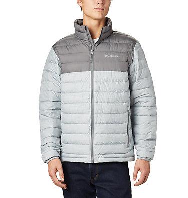 Men's Powder Lite™ Insulated Jacket Powder Lite™ Jacket | 024 | S, Columbia Grey Heather, City Grey, front