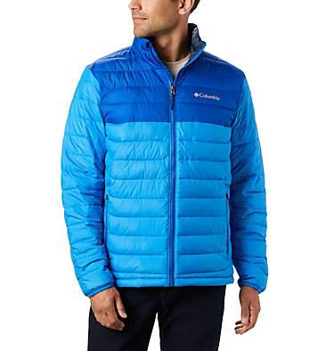 Men's Powder Lite™ Insulated Jacket Powder Lite™ Jacket | 024 | S, Azure Blue, Azul, front