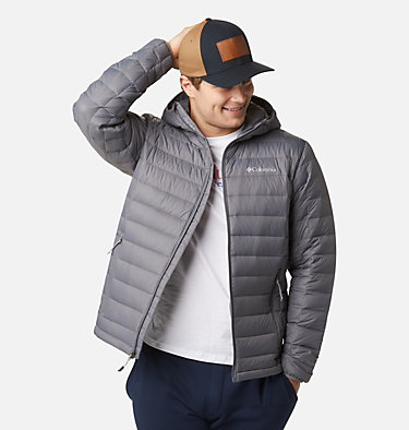 Men's Voodoo Falls™ 590 TurboDown™ Hooded Puffer Jacket Voodoo Falls™ 590 TurboDown™ Hooded Jkt | 820 | L, City Grey, front