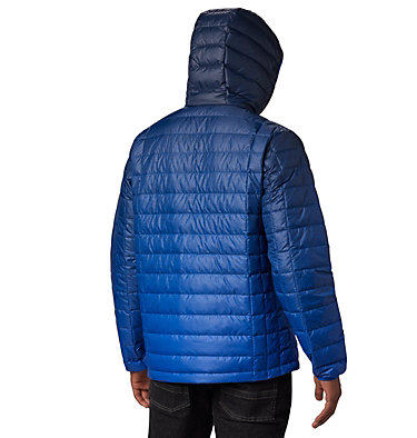 Men's Voodoo Falls™ 590 TurboDown™ Hooded Puffer Jacket Voodoo Falls™ 590 TurboDown™ Hooded Jkt | 010 | L, Azul Topo Fade Print, back