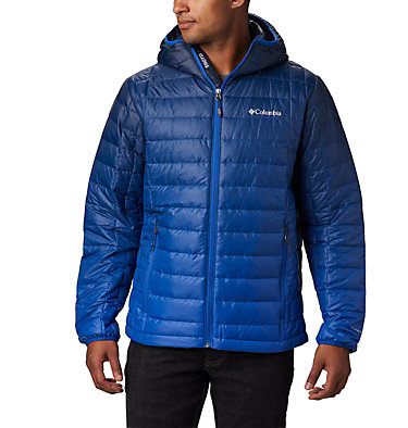 Men's Voodoo Falls™ 590 TurboDown™ Hooded Puffer Jacket Voodoo Falls™ 590 TurboDown™ H | 614 | XL, Azul Topo Fade Print, front
