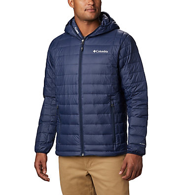 Men's Voodoo Falls™ 590 TurboDown™ Hooded Puffer Jacket Voodoo Falls™ 590 TurboDown™ Hooded Jkt | 820 | L, Collegiate Navy, front
