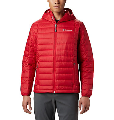 Men's Voodoo Falls™ 590 TurboDown™ Hooded Puffer Jacket Voodoo Falls™ 590 TurboDown™ Hooded Jkt | 010 | L, Mountain Red, front