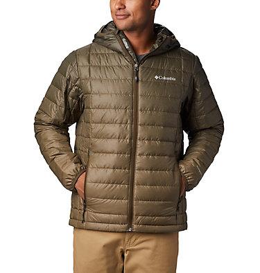 Men's Voodoo Falls 590 TurboDown™ Hooded Jacket - Big Voodoo Falls™ 590 TurboDown™ Hooded Jkt | 820 | 3X, Olive Green Topo Fade Print, front