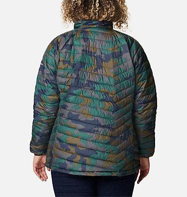 Women's Powder Lite™ Jacket - Plus Size Powder Lite™ Jacket | 472 | 2X, Dark Nocturnal Traditional Camo Print, back