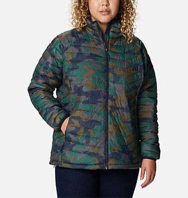 Women's Powder Lite™ Jacket - Plus Size Powder Lite™ Jacket | 472 | 2X, Dark Nocturnal Traditional Camo Print, front