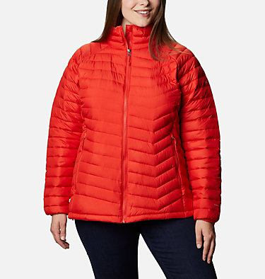 Women's Powder Lite™ Jacket - Plus Size Powder Lite™ Jacket | 472 | 2X, Bold Orange, front
