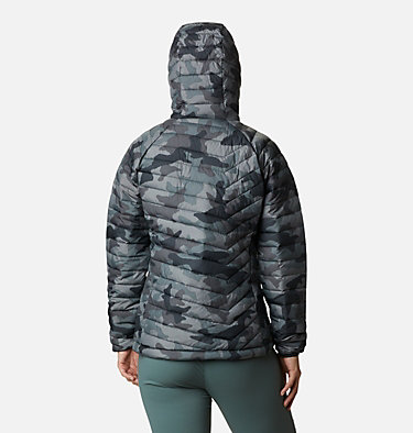 Women's Powder Lite™ Hooded Jacket Powder Lite™ Hooded Jacket | 192 | XS, Black Traditional Camo Print, back