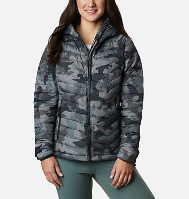 Women's Powder Lite™ Hooded Jacket Powder Lite™ Hooded Jacket | 192 | XS, Black Traditional Camo Print, front