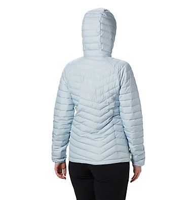 Powder Lite™ Kapuzenjacke für Damen Powder Lite™ Hooded Jacket | 011 | XS, Cirrus Grey Sparkler Print, back