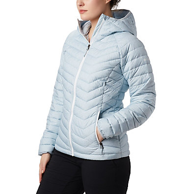 Powder Lite™ Kapuzenjacke für Damen Powder Lite™ Hooded Jacket | 011 | XS, Cirrus Grey Sparkler Print, front