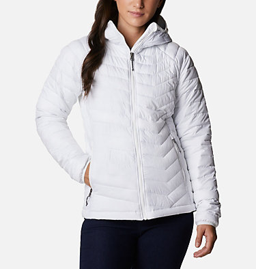 Powder Lite™ Kapuzenjacke für Damen Powder Lite™ Hooded Jacket | 103 | XS, White, front