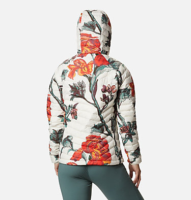 Powder Lite™ Kapuzenjacke für Damen Powder Lite™ Hooded Jacket | 103 | XS, Chalk Botanica Print, back