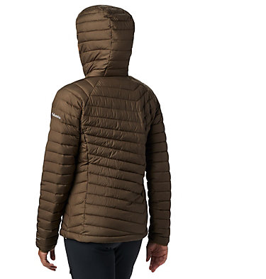 Powder Lite™ Kapuzenjacke für Damen Powder Lite™ Hooded Jacket | 011 | XS, Olive Green, back