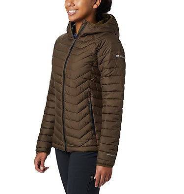 Powder Lite™ Kapuzenjacke für Damen Powder Lite™ Hooded Jacket | 103 | XS, Olive Green, front