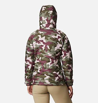 Giacca con cappuccio Powder Lite™ da donna Powder Lite™ Hooded Jacket | 103 | XS, Olive Green Traditional Camo, back