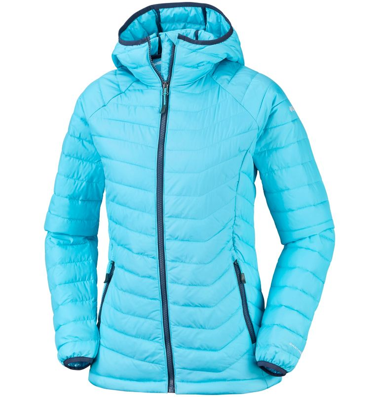 Powder Lite™ Hooded Jacket | 404 | M Women's Powder Lite™ Hooded Jacket, Atoll, front