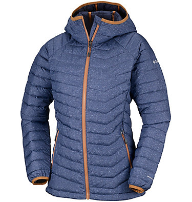 Powder Lite™ Kapuzenjacke für Damen Powder Lite™ Hooded Jacket | 011 | XS, Nocturnal Tweed Print, front