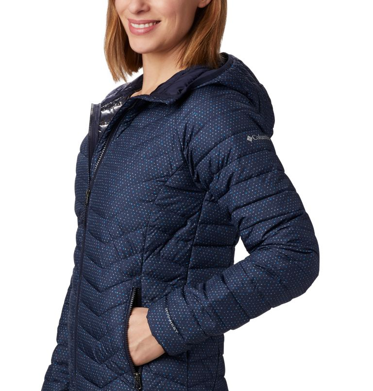 Powder Lite™ Hooded Jacket | 472 | XL Women's Powder Lite™ Hooded Jacket, Dark Nocturnal Sparkler Print, a1