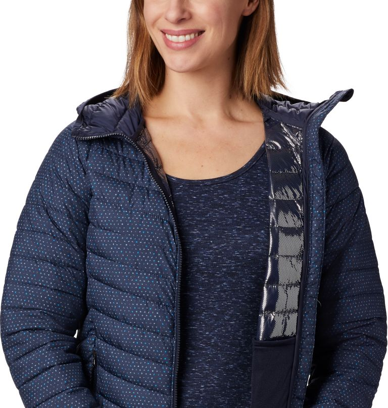 Powder Lite™ Hooded Jacket | 472 | XL Women's Powder Lite™ Hooded Jacket, Dark Nocturnal Sparkler Print, a2