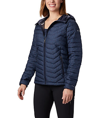 Powder Lite™ Kapuzenjacke für Damen Powder Lite™ Hooded Jacket | 011 | XS, Dark Nocturnal Sparkler Print, front