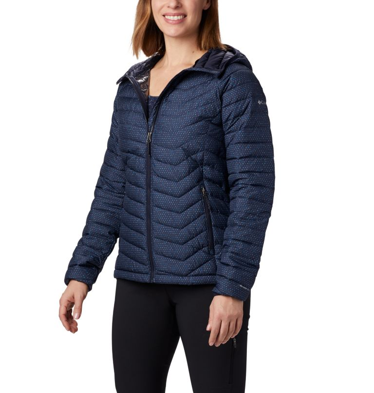 Powder Lite™ Hooded Jacket | 472 | L Women's Powder Lite™ Hooded Jacket, Dark Nocturnal Sparkler Print, front