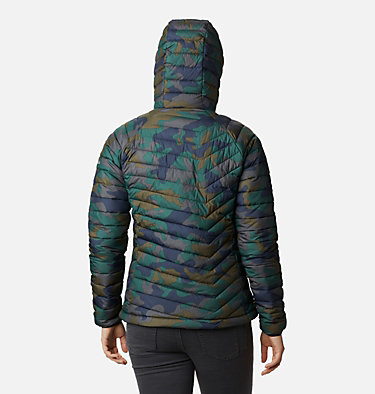 Doudoune à Capuche Powder Lite™ Femme Powder Lite™ Hooded Jacket | 103 | XS, Dark Nocturnal Traditional Camo, back