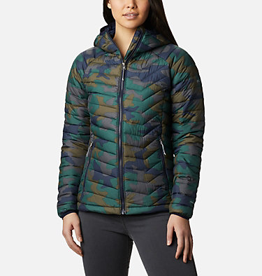 Giacca con cappuccio Powder Lite™ da donna Powder Lite™ Hooded Jacket | 103 | XS, Dark Nocturnal Traditional Camo, front