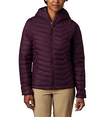 Women's Powder Lite™ Hooded Jacket Powder Lite™ Hooded Jacket | 522 | L, Black Cherry, front