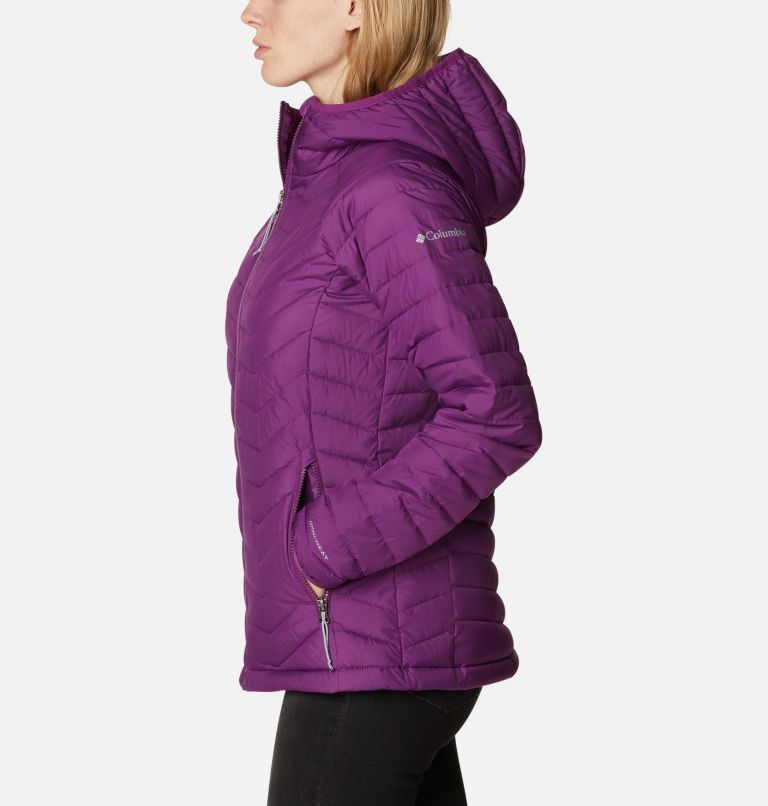 Powder Lite™ Hooded Jacket | 575 | L Doudoune à Capuche Powder Lite™ Femme, Plum, a1