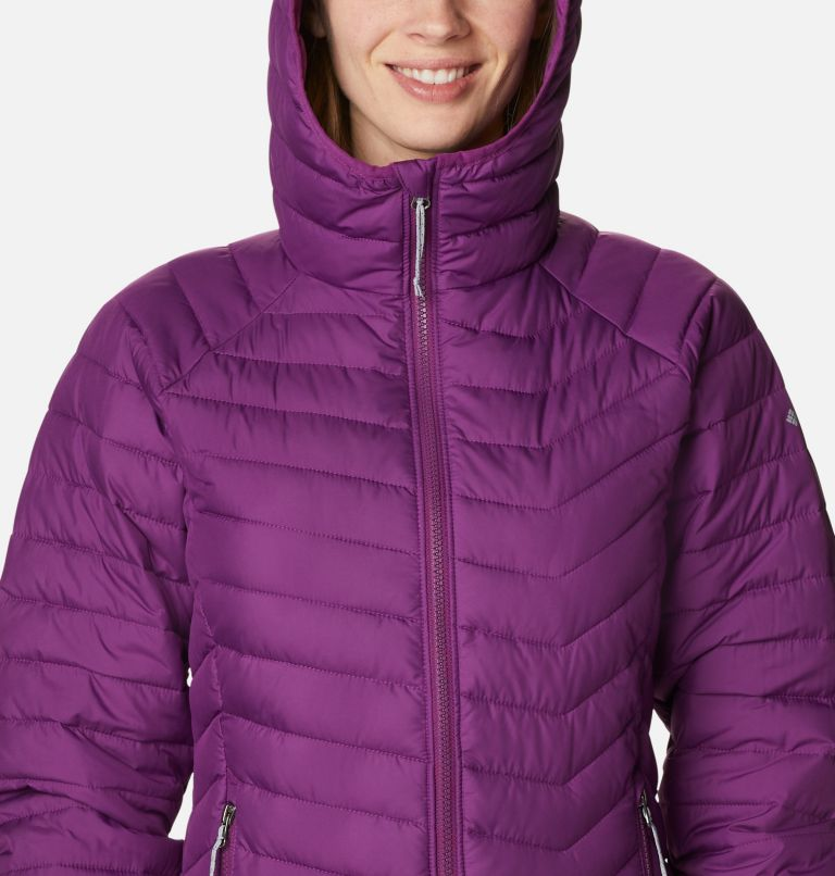 Powder Lite™ Hooded Jacket | 575 | XL Doudoune à Capuche Powder Lite™ Femme, Plum, a2