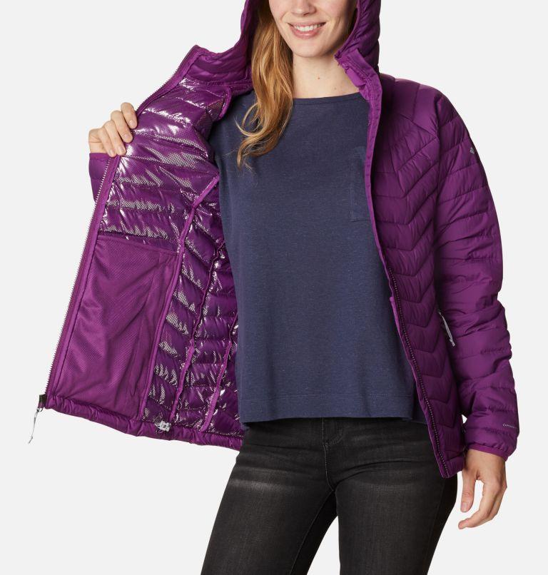 Powder Lite™ Hooded Jacket | 575 | XL Doudoune à Capuche Powder Lite™ Femme, Plum, a3