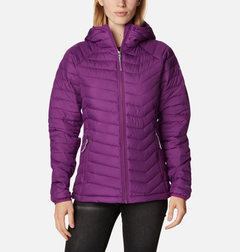 Powder Lite™ Hooded Jacket | 575 | L Doudoune à Capuche Powder Lite™ Femme, Plum, front