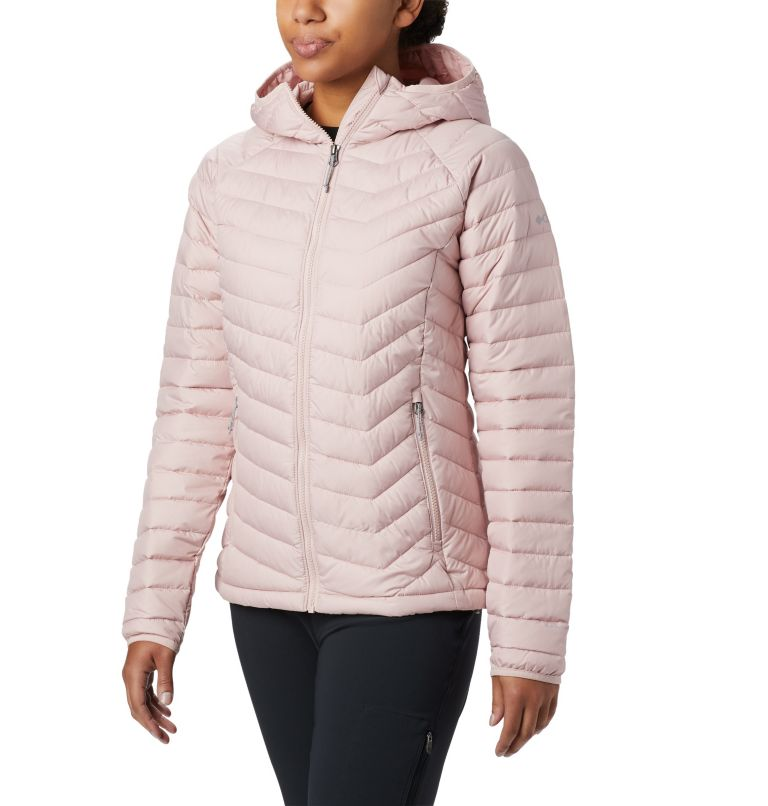 Powder Lite™ Hooded Jacket | 626 | S Giacca con cappuccio Powder Lite™ da donna, Dusty Pink, front