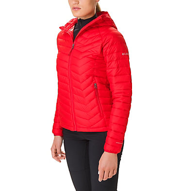 Giacca con cappuccio Powder Lite™ da donna Powder Lite™ Hooded Jacket | 103 | XS, Red Lily, front