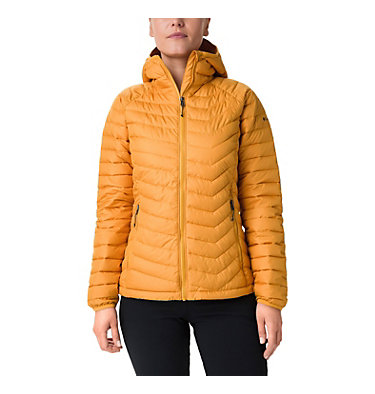 Giacca con cappuccio Powder Lite™ da donna Powder Lite™ Hooded Jacket | 103 | XS, Raw Honey, front