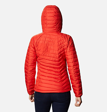 Giacca con cappuccio Powder Lite™ da donna Powder Lite™ Hooded Jacket | 103 | XS, Bold Orange, back