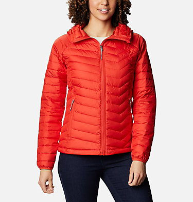 Giacca con cappuccio Powder Lite™ da donna Powder Lite™ Hooded Jacket | 103 | XS, Bold Orange, front