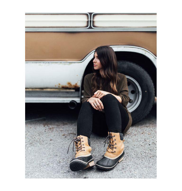 SLIMPACK™ LACE II | 052 | 5 Womens Slimpack™ II Lace Duck Boot, Quarry, Black, toe