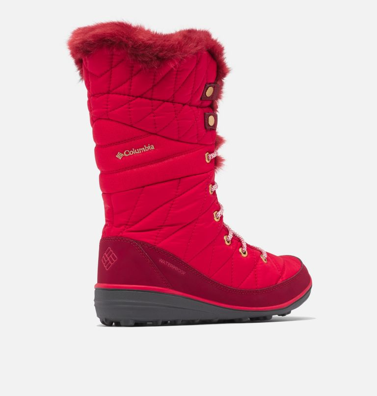 HEAVENLY™ OMNI-HEAT™ | 613 | 9.5 Botte à lacets Heavenly™ Omni-Heat™ pour femme, Mountain Red, Red Jasper, 3/4 back