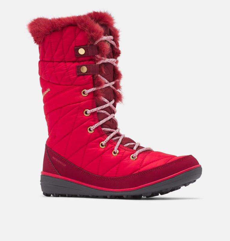 HEAVENLY™ OMNI-HEAT™ | 613 | 9.5 Botte à lacets Heavenly™ Omni-Heat™ pour femme, Mountain Red, Red Jasper, 3/4 front