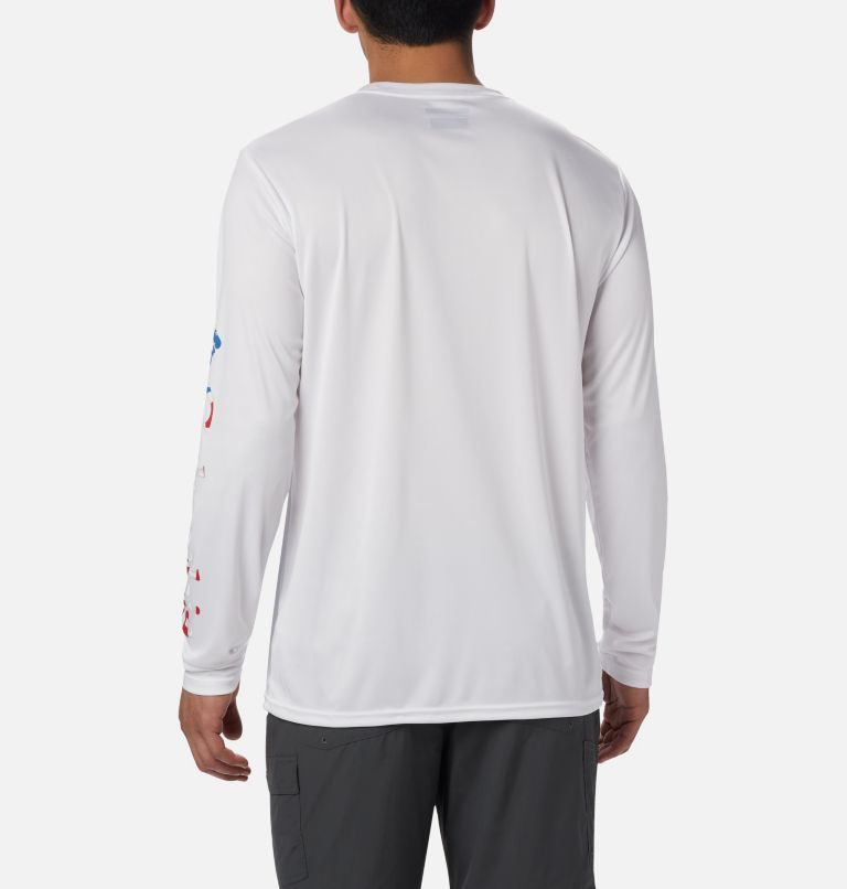 Men's Terminal Tackle™ PFG Sleeve Long Sleeve Shirt Men's Terminal Tackle™ PFG Sleeve Long Sleeve Shirt, back