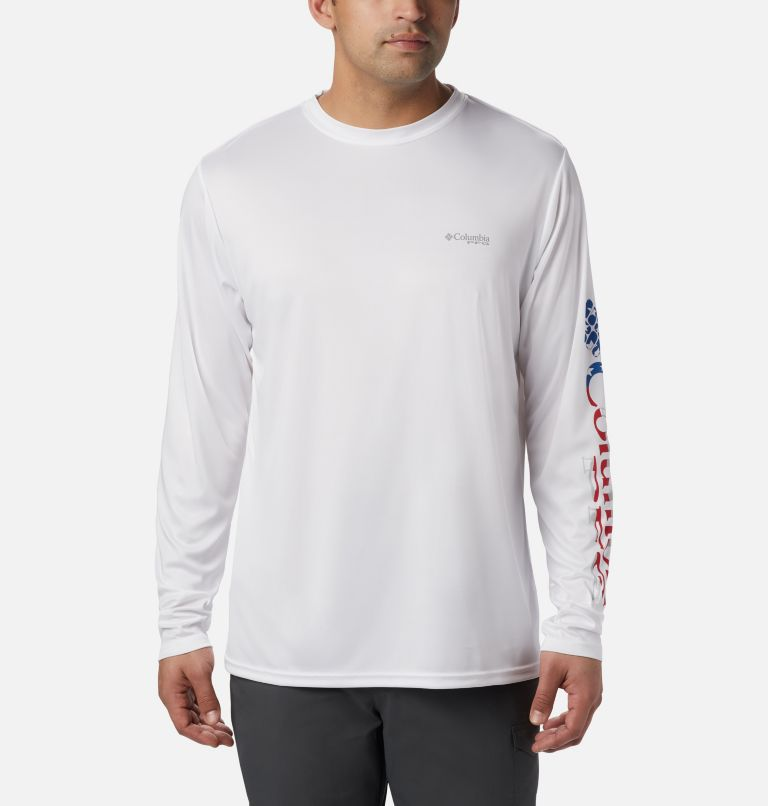 Men's Terminal Tackle™ PFG Sleeve Long Sleeve Shirt Men's Terminal Tackle™ PFG Sleeve Long Sleeve Shirt, front