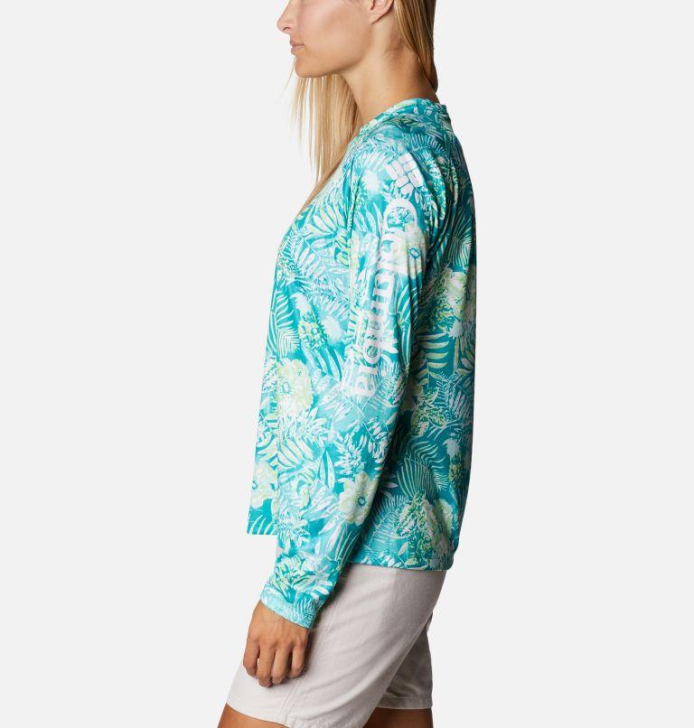 Super Tidal Tee™ Long Sleeve | 361 | S Women's PFG Super Tidal Tee™ Long Sleeve, Tropic Water Batik Floral Print, a1