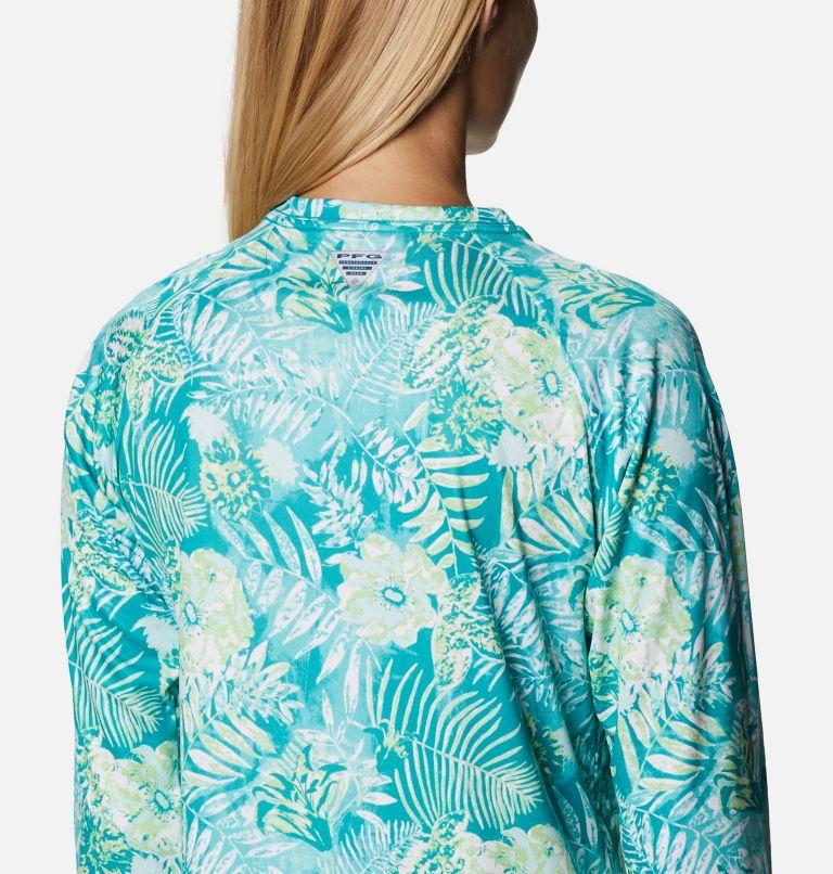 Super Tidal Tee™ Long Sleeve | 361 | S Women's PFG Super Tidal Tee™ Long Sleeve, Tropic Water Batik Floral Print, a3